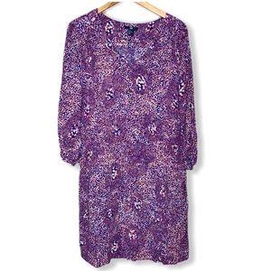 H&M MultiColor Patterned Faux Wrap Style Dress